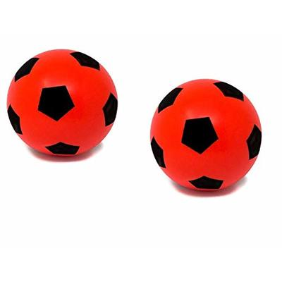 E-Deals Pack of Two 20cm Red Soft Foam Football Indoor Outdoor Soft Sponge Foam Soccer Ball Great Fun For Kids Boys Girls Teenagers Adults