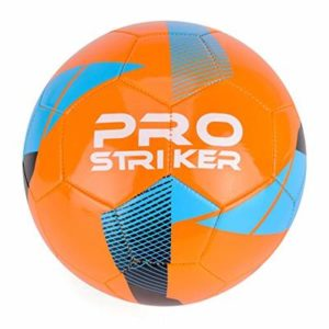 Pro Striker Football Soccer Ball for Training and Matches, Orange and Black, Size 5