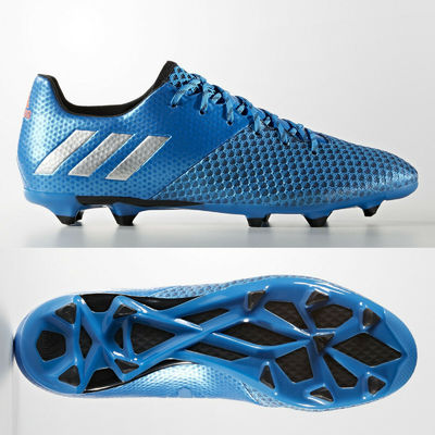 adidas Messi 16.2 FG Mens Football Boots Firm Ground Blue SIZE 6.5 8 9.5 10.5 11
