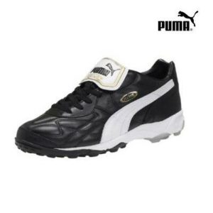 Puma King All-Round Tt Turf Trainers Studded Shoe Black/White/Gold [170 119]
