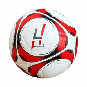 Highliving ® Football Size 5 New Super Dual Thermal Bonded technology Professional Club Team Indoor & Outdoor Match Soccer Ball Anti Slip (Red)