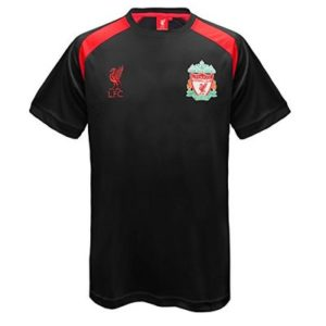 Liverpool FC Official Football Gift Mens Poly Training Kit T-Shirt Black 3XL