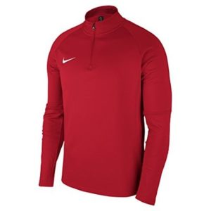 Nike Men Dry Academy 18 Drill Long Sleeve Top – University Red/Gym Red/White, Small