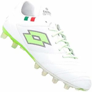 Lotto Men's's Stadio 45 Fg Football Boots White (Wht/Mint Fl 000) 12 UK