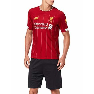 New Balance Men's Official Liverpool FC 2019/20 Home Ss Jersey S/s Top, Red, Small