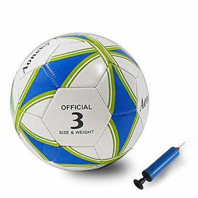 Aoneky Training Football Ball – Practice Soccer Toy Ball for Kids Boys Girls Including Air Pump and Needle (Size 3)