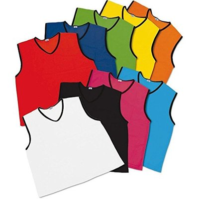 Prospo Training Mesh Football Soccer Rugby Bibs pack of 10 PLUS A FREE WHISTLE PER ORDER