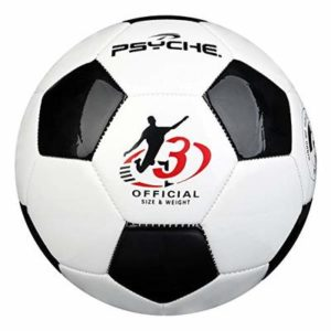 Football for Kids/Children/Adults,Football Ball for Training Practice Indoor/Outdoor Game balls Size 3.4.5, Black White