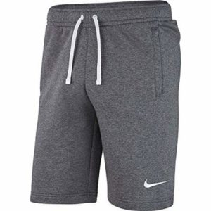 Nike Kids' Y SHORT FLC TM CLUB19 Sport, Charcoal Heathr/Anthracite/White/(White), XL