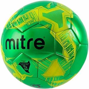 Mitre Flare Football Green Yellow Size 5 Durable Recreational Training Ball