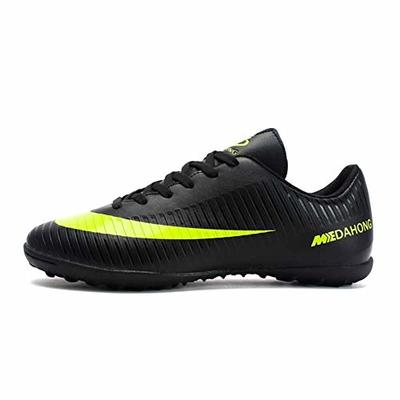 Phciy Football Shoes Men, Cleats Competition/Training Shoes Comfortable Breathable Wear-Resistence Professional Trainers Boys Junior Rugby Outdoor Sneakers Soccer Shoes Unisex Boots,Black,40