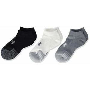 Under Armour Kid's Youth Heatgear Ns Socks, Steel/White/White (035), YLG