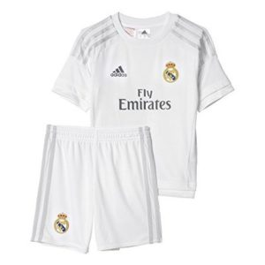 Adidas Real Madrid Home Mini Children's Tracksuit, White, 5-6 Years (Manufacturer Size: 116)
