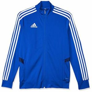 Adidas Kid's Tiro19 Tr Jacket, Bold Blue/Dark Blue/White, 9-10 Years (M)