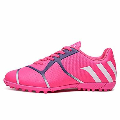 JJKK Broken nail soccer shoes male boys and girls grass flat training student shoes, Indoor Comfortable Soccer Shoes Boys Football Student Cleats Sneaker Shoes,Pink,37