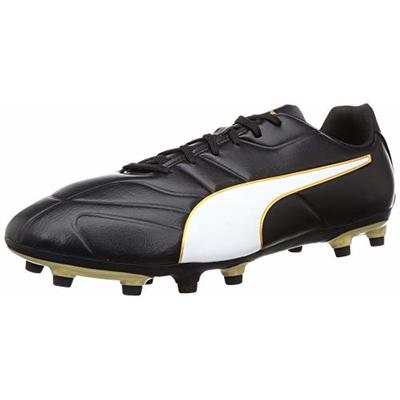 Puma Men's Classico C Ii Fg Footbal Shoes, Black (Puma Black-Puma White-Gold), 8.5 UK