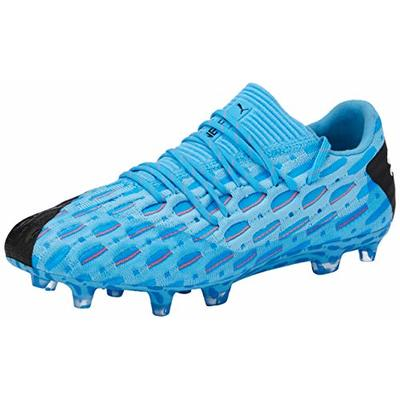 PUMA Men's Future 5.1 Netfit Low FG/AG Football Boots, Yellow (Luminous Blue-Nrgy Blue Black-Pink Alert 01), 7.5 UK 41 EU