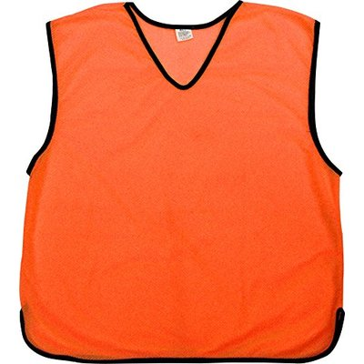 Prospo 10 X Training Bibs Sports Mesh Bibs Football Soccer Rugby Sports Bibs 16 Colours & 4 Sizes Orange