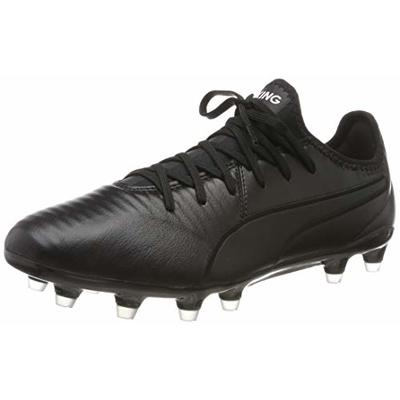 PUMA Unisex Adult's King Pro FG Football Boots, Black White, 8.5 UK 42.5 EU
