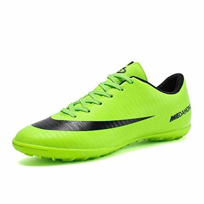 Phciy Football Shoes Men, Cleats Competition/Training Shoes Comfortable Breathable Wear-Resistence Professional Trainers Boys Junior Rugby Outdoor Sneakers Soccer Shoes Unisex Boots,Green,43