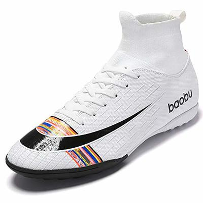 Mengxx High Top Spikes Trainer Professional Trainers Competition Shoes Men's Football Shoes Boys' Football Athletics Shoes Size: 2