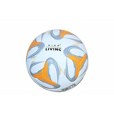 Highliving Football Size 5 Thermal Bonded Professional Club Team Indoor & Outdoor Match Soccer Ball Anti Slip Silver/Orange