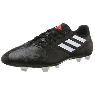 adidas Men's Conquisto Ii Fg Footbal Shoes, Black (Core Black/FTWR White/Solar Red), 7.5 UK
