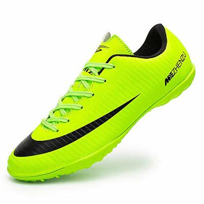 Topoption Football Shoes Men Trainers Boys Junior Rugby Outdoor Sneakers Wear-Resistence Soccer Shoes Unisex Boots, Green, 6.5 UK