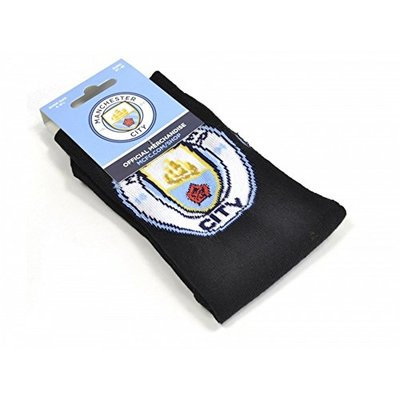 Manchester City FC Childrens/Kids Crest Socks (1 Pair) (4-6.5 UK) (Navy)