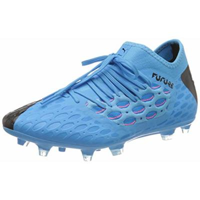 PUMA Men's Future 5.3 Netfit Fg/Ag Football boots, Blue Luminous Blue Nrgy Blue Puma Black Pink Alert 01, 10.5 UK