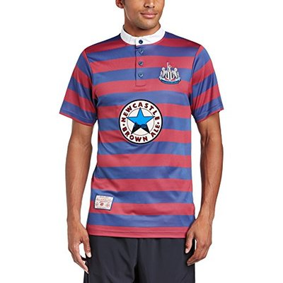 Newcastle United 1996 Away Short Sleeve Shirt – Blue, X-Large