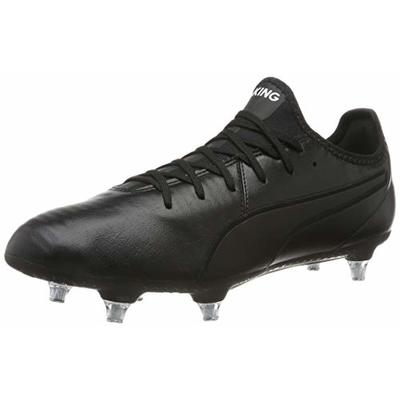 PUMA Men's King PRO SG Football Boots, Black White, 10 UK 44.5 EU