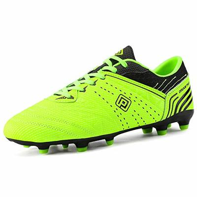 DREAM PAIRS 160859-M Men's Sport Flexible Athletic Outdoor Cleats Football Boots Soccer Shoes Neongreen Black Size 13 US/ 12 UK