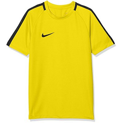 Nike Kids Dry Academy 18 Short Sleeve Top – Tour Yellow/Anthracite/Black, Small