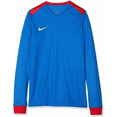 Nike Y Nk Dry PRK DRBY II JSY LS Long Sleeved T-Shirt – Royal Blue/University Red/University Red/(White), X-Large