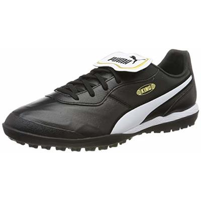 PUMA Men's King TOP TT Football Boots, Black White, 39 EU 6UK