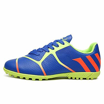 JJKK Broken nail soccer shoes male boys and girls grass flat training student shoes, Indoor Comfortable Soccer Shoes Boys Football Student Cleats Sneaker Shoes,Blue,38