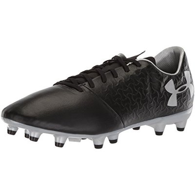 Under Armour Men's Magnetico Select Firm Ground, Black/Metallic Silver, Size 9.0