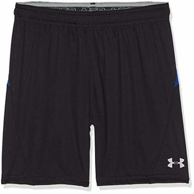 Under Armour Y Challenger Ii Knit Boy's Short, Black / Royal / Overcast Gray (002), Youth X-Large