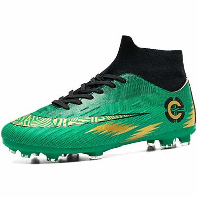 Donbest Mens Football Boots Cleats Soccer Shoes Professional Spikes Football Competition Shoes Training Boy's Sneakers Green