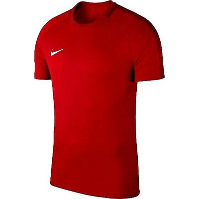 NIKE ACADEMY 18 TRAINING TOP UNI RED/WHITE SIZES XSB  TO ADULT SMALL