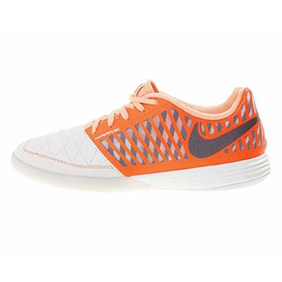 Nike Men's Lunar Gato Ii Ic Football Boots, Multicolour (Sail/Mahogany/Hyper Crimson/Orange Pulse 128), 6.5 UK
