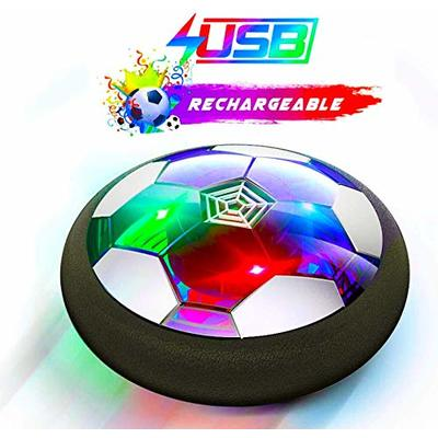 Ucradle Kids Toys Hover Soccer Ball Rechargeable Air Soccer, Soccer Ball Indoor Floating Soccer with LED Light and Foam Bumper, Perfect Time Killer for Boys Girls Toddler (No Battery Needed)