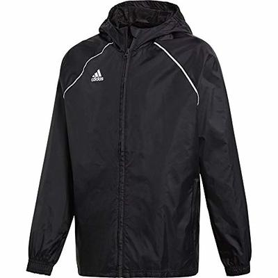 adidas Kid's Core 18 Rain Jacket, Black/White, Size 128