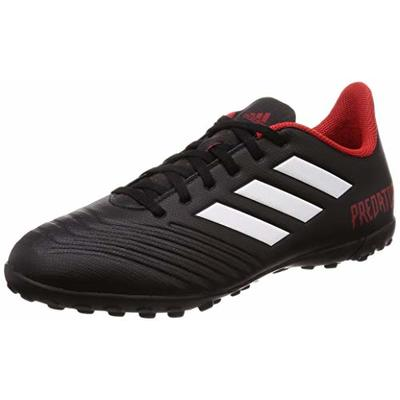 adidas Predator Tango 18.4 Tf, Men's Footbal Shoes, Black (Cblack/Ftwwht/Red Cblack/Ftwwht/Red), 7.5 UK (41 1/3 EU)