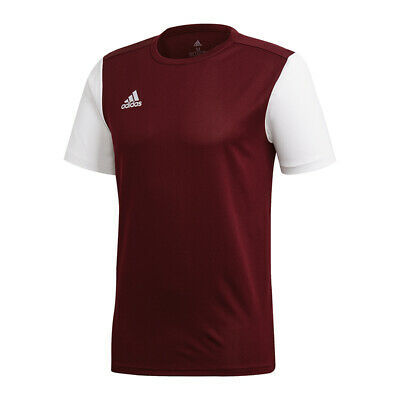 Adidas Estro 19 short Sleeve Jersey Dark Red White