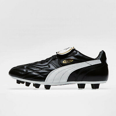 Puma Mens King Top Classic Firm Ground Football Boots Studs Trainers Shoes Black