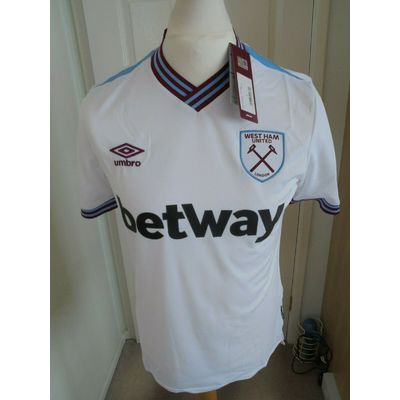 WEST HAM AWAY  SHIRT  2019- 20 BNWT SIZE  MEDIUM