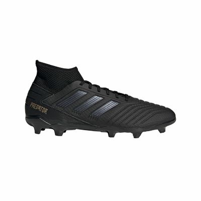 Adidas Predator 19.3 Fg Football Boot Men's Black Studs Socks New
