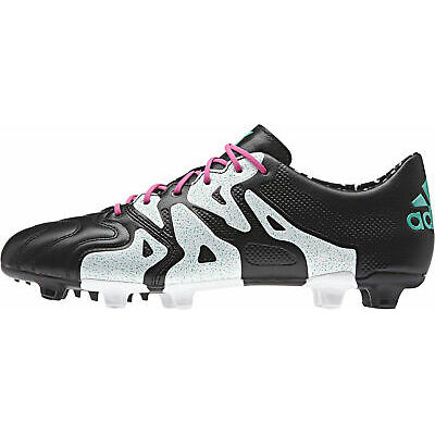 Adidas X 15.1 Firm Ground / AG Leather Mens Football Boots – Black
